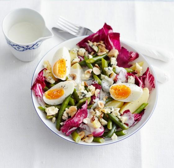 Kartoffelsalat mit Radicchio und Friesisch Blue