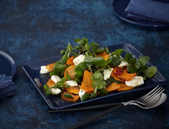 Kürbis-Brunnenkresse-Salat
