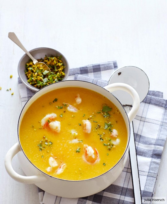 Kürbis-Koriander-Suppe