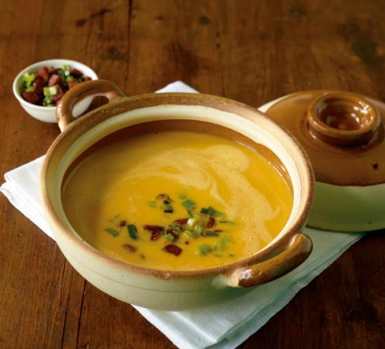 Kürbis-Lauch-Suppe