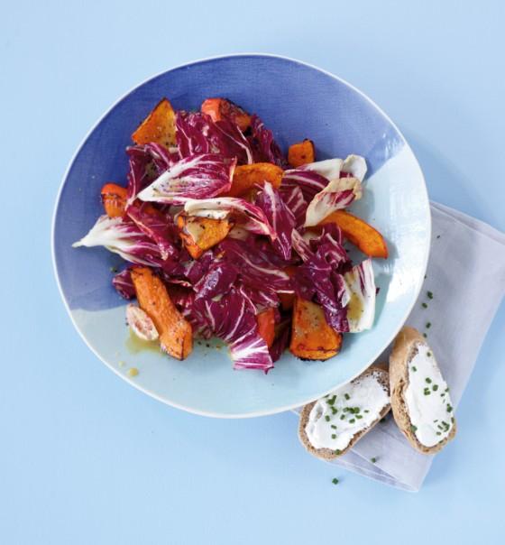 Kürbis-Radicchio-Salat