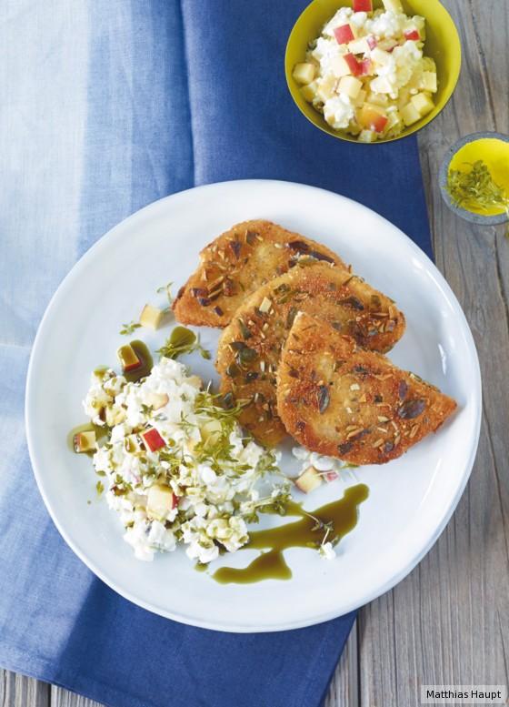 Kürbiskern-Sellerieschnitzel