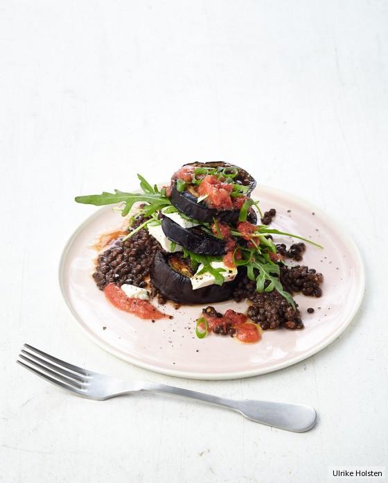 Linsen-Auberginen-Salat