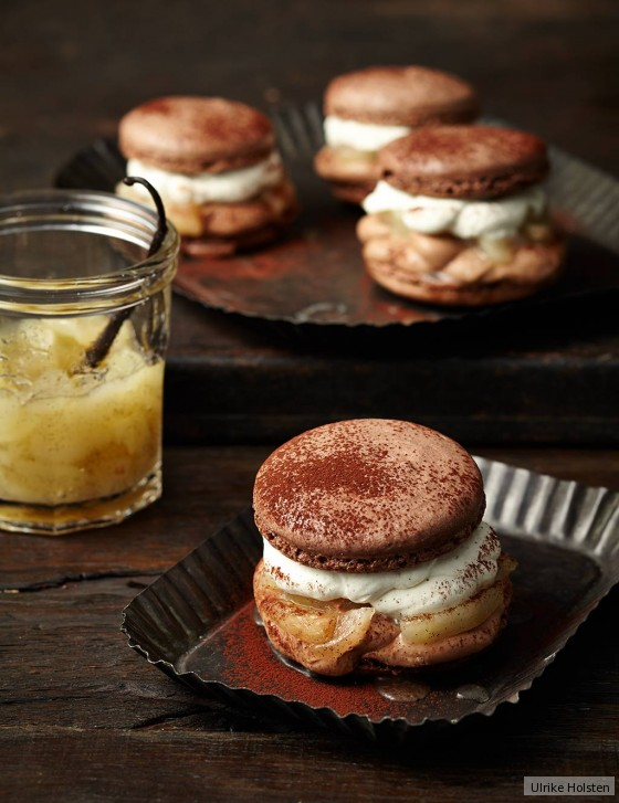 macaron burger mit birnenkompott rezept essen und trinken. Black Bedroom Furniture Sets. Home Design Ideas