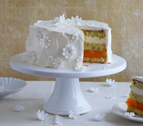 Mango-Frischkäse-Blüten-Torte