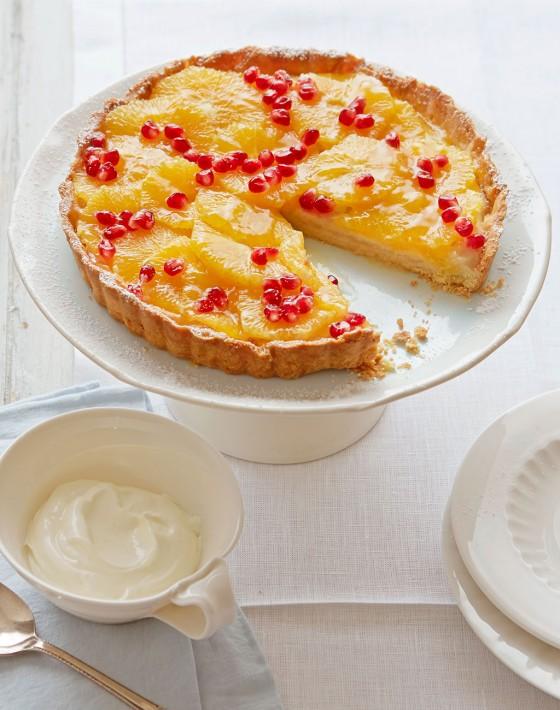 Orangen-Granatapfel-Tarte