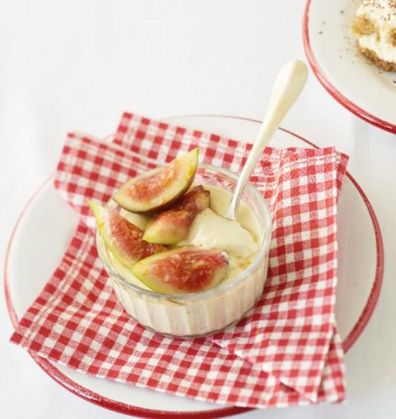 Panna cotta mit Feigensalat