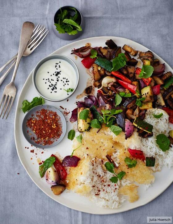 Persischer Reis mit Gemüse