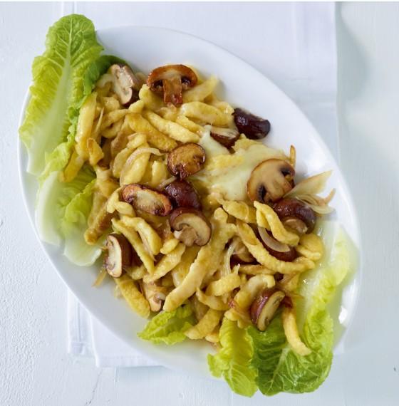 Pilz-Käsespätzle