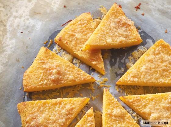 Polenta-Parmesan-Ecken