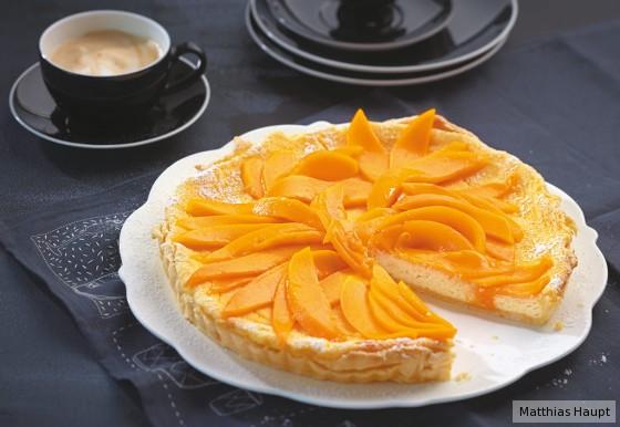 Quark-Tarte mit Mango