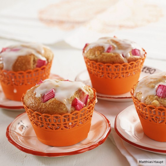 Rhabarber-Bananen-Muffins