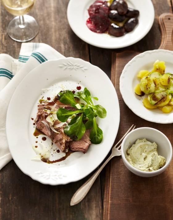 Rinderbrust-Salat mit Kürbiskernöl