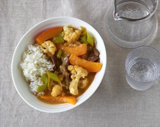 Rindfleisch-Gemüse-Curry