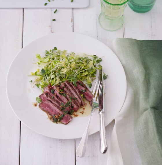 Rumpsteak mit Sojabutter