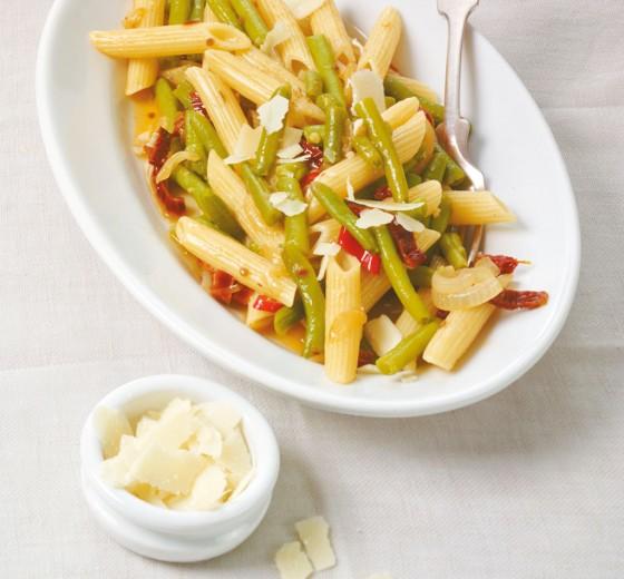 Scharfe Bohnen-Pasta