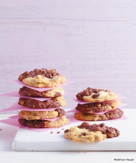 Schwarz-Weiß-Cookies