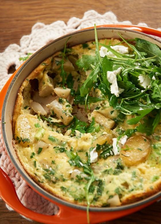 Schwarzwurzel-Tortilla
