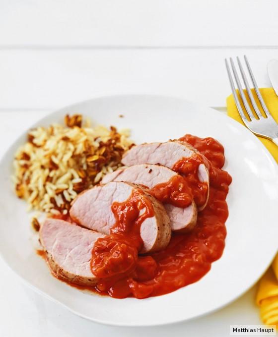 Schweinefilet mit BBQ-Sauce
