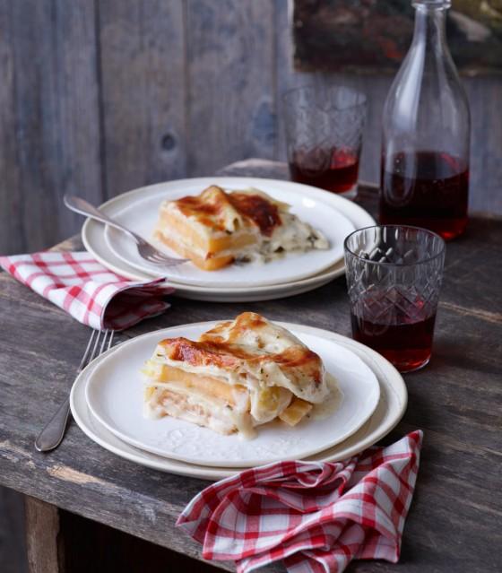 Steckrüben-Lasagne