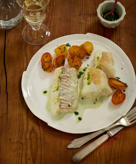Stockfisch mit Grüner Sauce