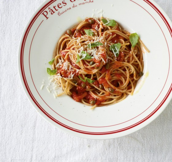 Tomaten-Kapern-Pasta