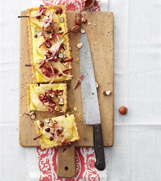 Ziegenkäse-Birnen-Tarte