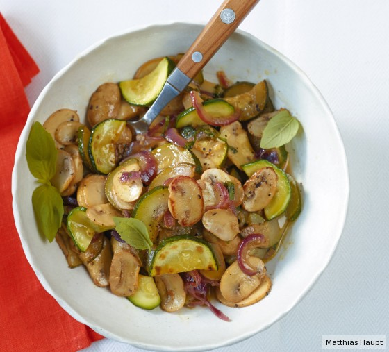 Zucchini-Pilz-Gemüse