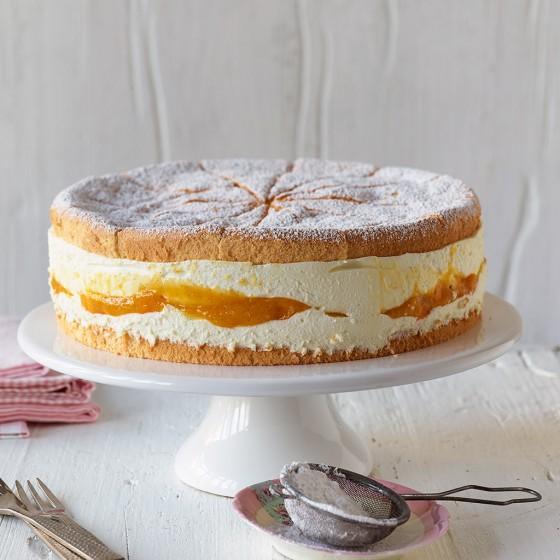 Käse-Sahne-Torte mit Mango
