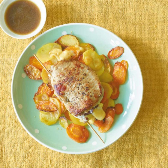 Käseschnitzel mit Möhren-Kartoffeln