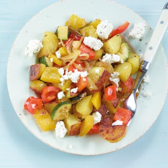 Mediterrane Kartoffelpfanne
