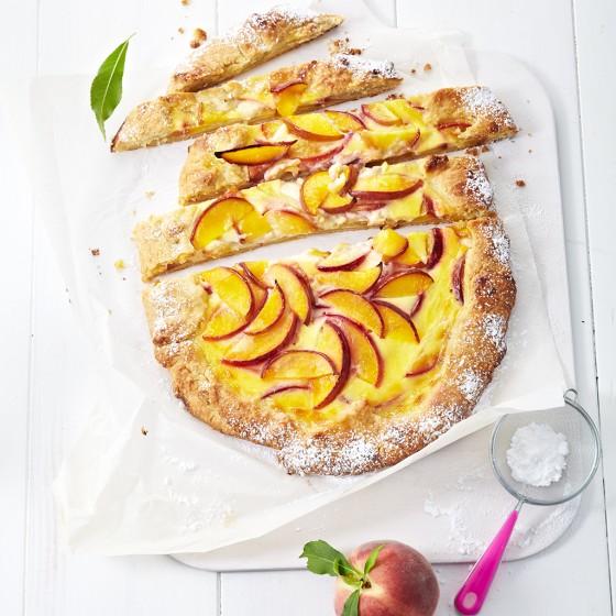 Pfirsich-Tarte mit Schmand