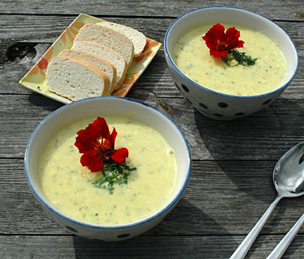 zucchini k se creme suppe rezept essen und trinken. Black Bedroom Furniture Sets. Home Design Ideas