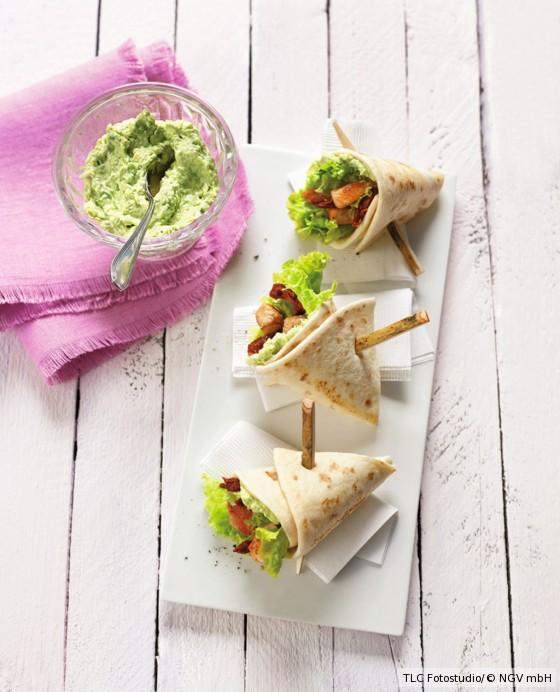 Mini-Burritos mit Hähnchen