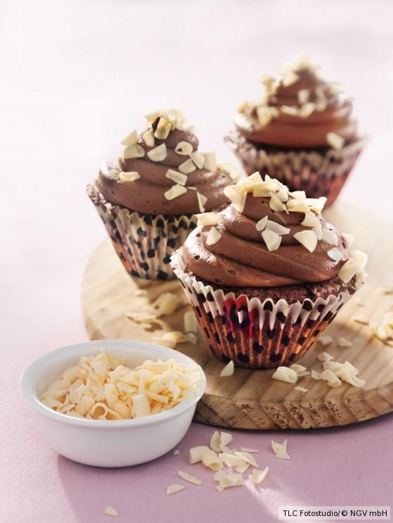 Schokoladen-Cupcakes mit Schoko-Frosting