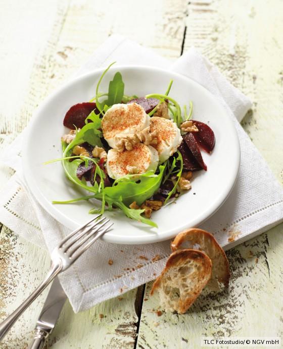 Rote-Bete-Salat mit Chili-Ziegenkäse