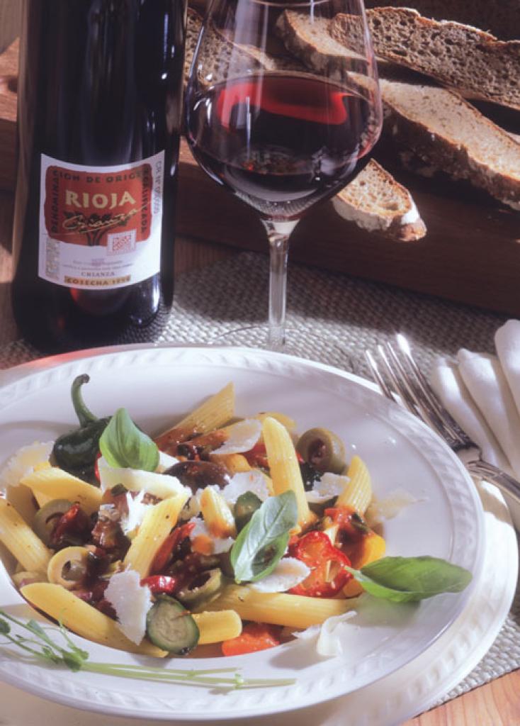 vegetarische pasta mit weingem se und parmesan rezept essen und trinken. Black Bedroom Furniture Sets. Home Design Ideas