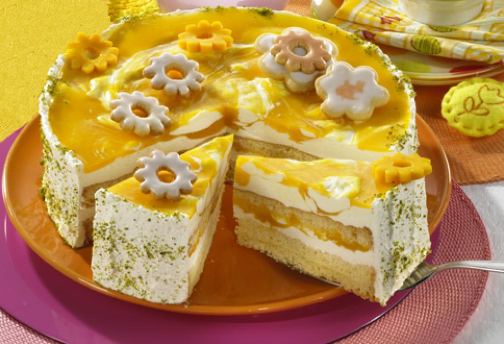 Mango joghurt torte rezept essen und trinken for Weisse kuchen bilder