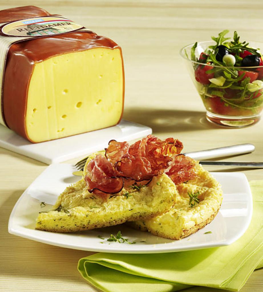 k se omelett mit schinken und kr utern rezept essen und trinken. Black Bedroom Furniture Sets. Home Design Ideas