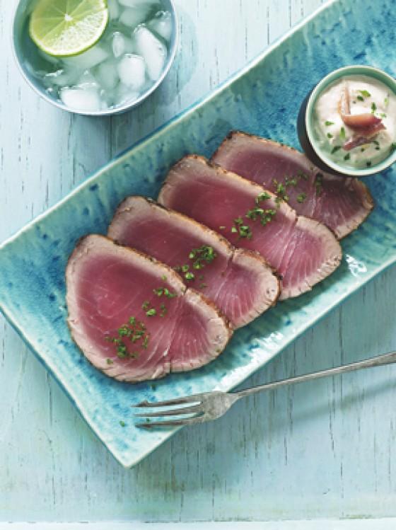 Thunfischsteaks mit Thunfischmayonnaise