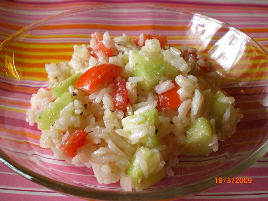 Reis salat recept