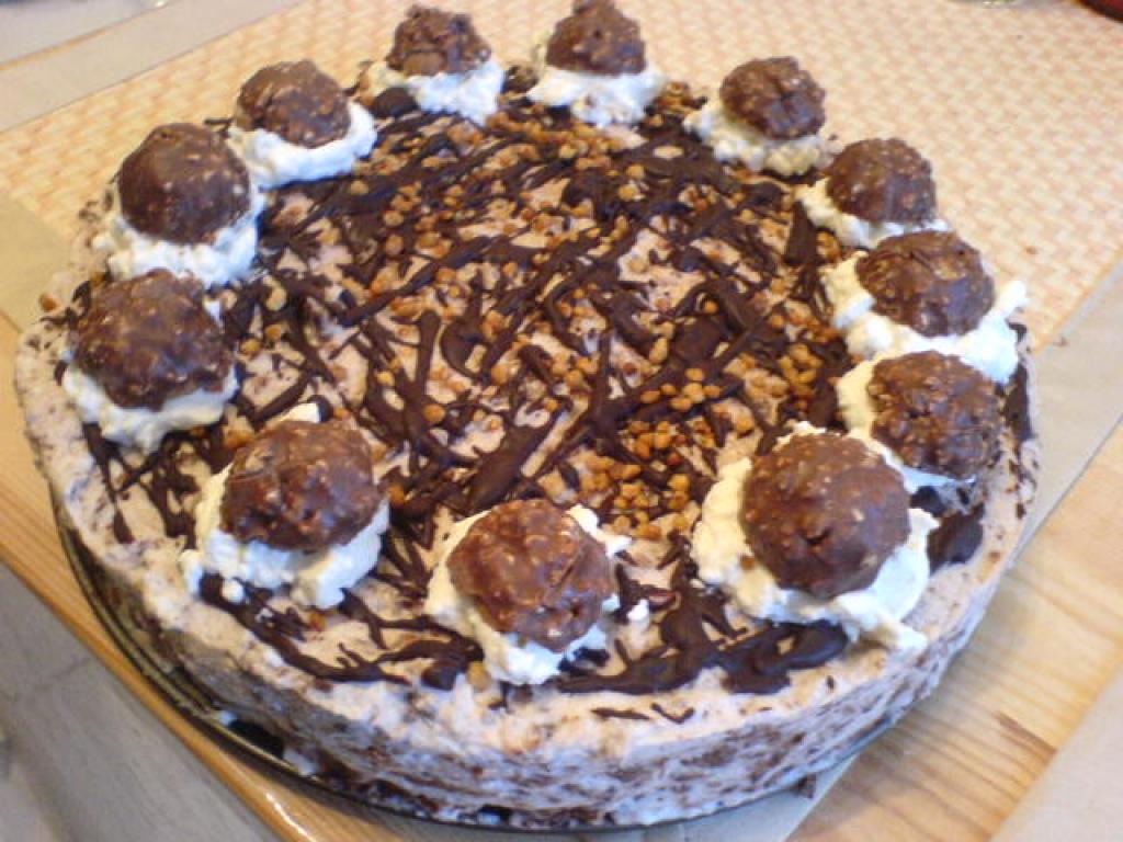 Kuchen mit rocher