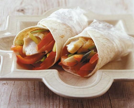 Chili-Ingwer-Wraps