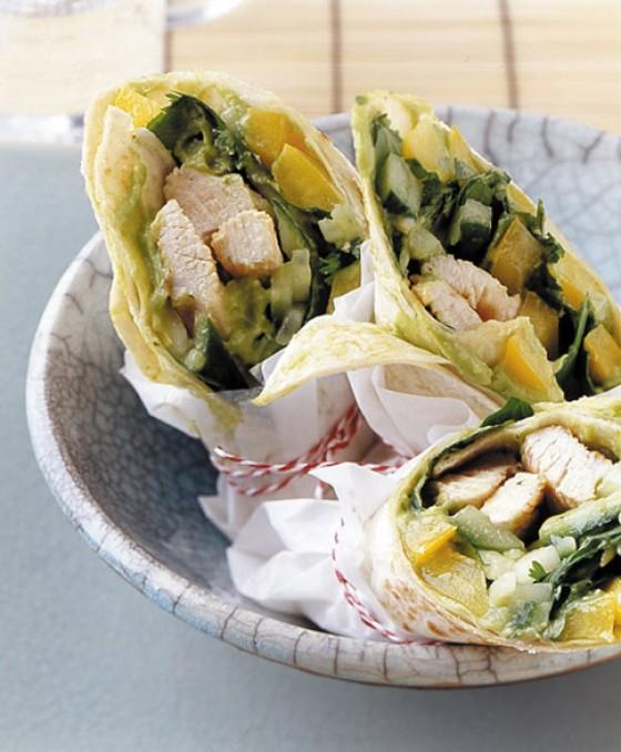 Wraps mit Putenbrust und Avocado