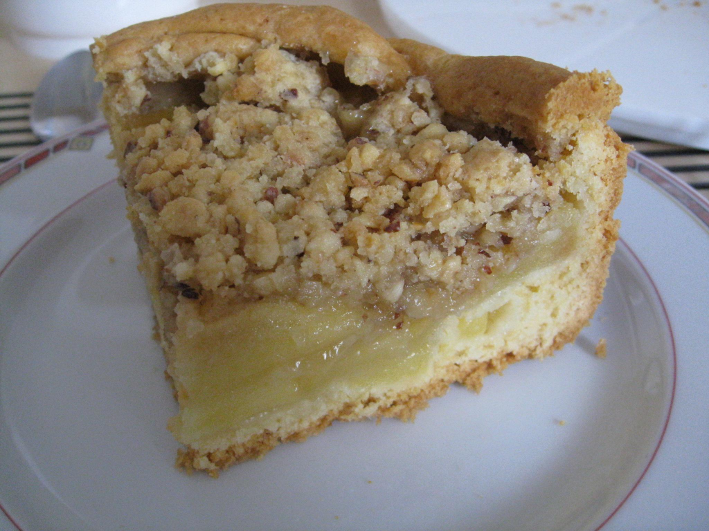 Apple Tart With Hazelnut-Brown Sugar Topping Recipe — Dishmaps