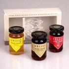 Essig-Gelee in drei Sorten: Quitte, Himbeer und Balsam-Apfel