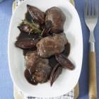Geflügelleber mit Rotweinsauce