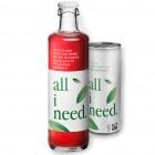 all i need ist ein erfrischendes Bioteegetränk mit grünem Tee, Agave, Aronia und Ingwer