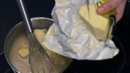 Butter dazu geben