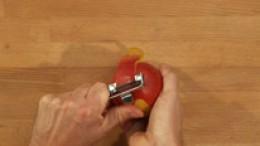 Mango schälen Schritt 1